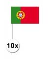 10 zwaaivlaggetjes portugal 12 x 24 cm