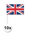 10 zwaaivlaggetjes verenigd koninkrijk 12 x 24 cm