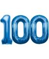 100 jaar folie ballonnen blauw
