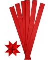 100 papieren stroken rood 73 cm