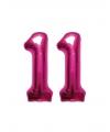 11 jaar folie ballonnen roze