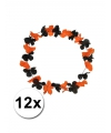 12 hawaii kransen zwart met oranje