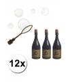12x champagnefles bellenblaas
