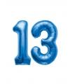 13 jaar folie ballonnen blauw
