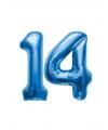 14 jaar folie ballonnen blauw
