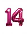 14 jaar folie ballonnen roze