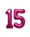 15 jaar folie ballonnen roze
