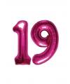 19 jaar folie ballonnen roze