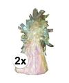2 ballongewichten glitter wit 170 gr