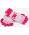 2 in 1 meisjes handschoenen lichtroze roze