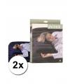 2 intex opblaasbaar kussens 43 x 28 cm