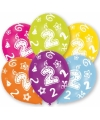 2 jaar leeftijd ballonnen 6 stuks