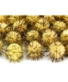 20 gele knutsel pompons 20 mm
