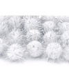 20 witte knutsel pompons 20 mm