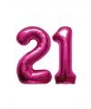 21 jaar folie ballonnen roze
