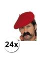 24 franse baretten rood
