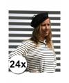 24 voordelige franse baretten zwart