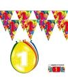 2x 1 jaar vlaggenlijn ballonnen