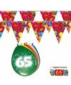2x 65 jaar vlaggenlijn ballonnen