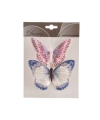 2x luxe decoratie vlinders 12 cm