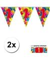 2x vlaggenlijn 1 jaar met gratis sticker