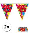 2x vlaggenlijn 25 jaar met gratis sticker