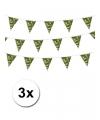 3 camouflage vlaggenlijnen 10 meter
