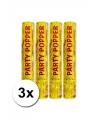 3 confetti kanonnen goud 28 cm