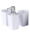 3 delige badkamer set wit 25 cm