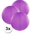 3 donker paarse lampionnen 35 cm