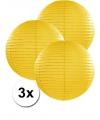 3 gele lampionnen 35 cm