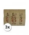 3 jute zakken voor sinterklaas 60 x 102 cm