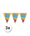 3 lets party feest vlaggenlijnen