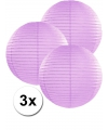 3 lila lampionnen 35 cm