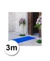 3 meter blauwe loper 1 meter breed