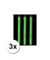 3 neon glow sticks groen