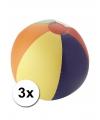 3 opblaasbare strandballen gekleurd