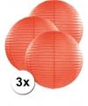 3 oranje lampionnen 50 cm