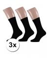 3 paar zwarte heren sokken maat 40 46