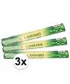 3 pakjes wierook stokjes cannabis