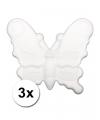 3 piepschuim vlinders 12 5 cm