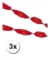 3 rode crepe papier slingers 5 meter