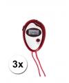 3 voordelige sport stopwatches rood