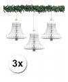 3 witte kerstklokken van papier 50 cm