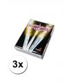 3 zilveren ijsfonteinen 45 seconden