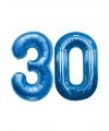 30 jaar folie ballonnen blauw