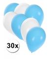 30x ballonnen in argentijnse kleuren