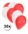 30x ballonnen in canadese kleuren