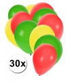 30x ballonnen in ghanese kleuren