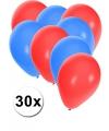 30x ballonnen in ijslandse kleuren